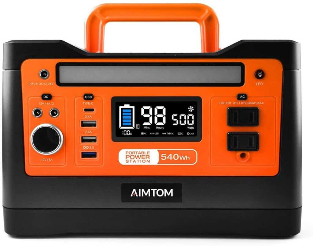 AIMTOM 540 watt solar generator
